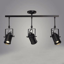 Vintage Iron Loft Industrial Spotlights Adjustable Pendant Lamp Clothing Store Lighting Coffee House//Bar/Mall Pendant Lamp