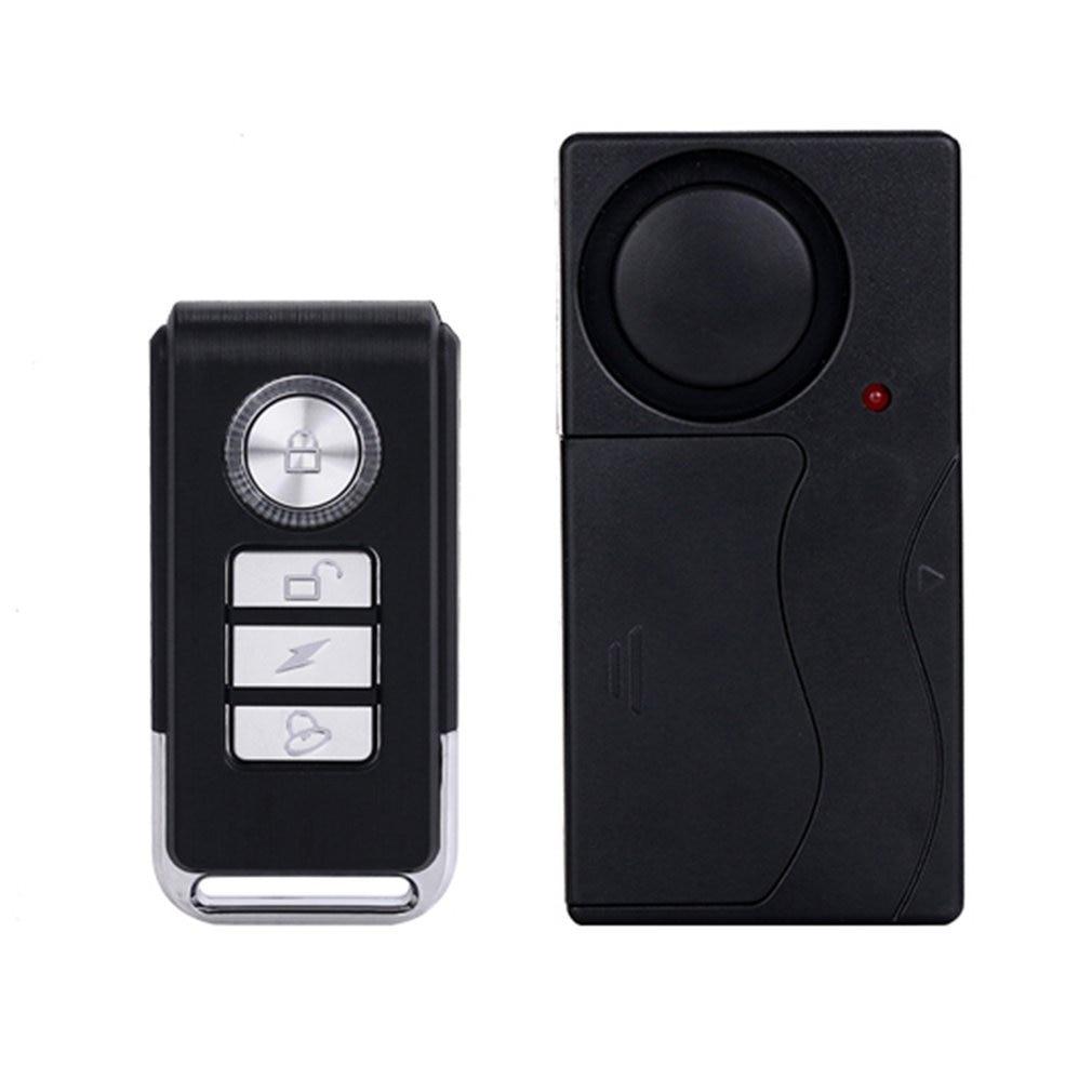 LESHP 433MHZ Wireless Remote Control Vibration Alarm Sensor Door Window Home House Security Sensor Detector 105dB Easy Use