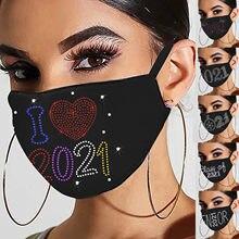 Adulto 1pc máscara boca para proteção contra poeira algodão 2021 feliz ano novo máscara facial unissex reutilização lavável respirável earloop máscara
