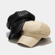 Beret-Hat Octagonal-Hat Winter Women for Small Fragrant Square Diamond Fashion Retro