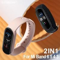 Cinturino sportivo in Silicone per Xiaomi Mi Band 6 5 4 3 Smart watch cinturino da polso sostituzione cinturino per MiBand 3 4 5 6 cinturino colore polso
