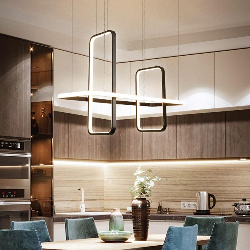 Nordic Modern Led Pendant Lights For Dining Living Room Shop Led Hanging Pendant Lamp Fixture Matte Black/white/gold Finished