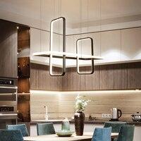 Nordic moderno led pingente luzes para sala de jantar loja led pendurado luminária luminária fosco preto/branco/ouro terminado|Luzes de pendentes| |  -
