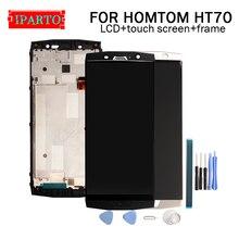 HOMTOM HT70 LCD תצוגה + מסך מגע Digitizer + מסגרת עצרת 100% מקורי LCD + מגע Digitizer עבור HOMTOM HT70