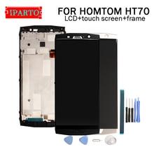 Homtom HT70 lcdディスプレイ + タッチスクリーンデジタイザ + フレームアセンブリ 100% オリジナル液晶 + タッチデジタイザーhomtom HT70