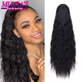 24inch Kinky Curly Ponytail Long Wave Ponytail Wrap Hair Around Ponytail Clip in Synthetic Hair Extensions Natural Hairpiece