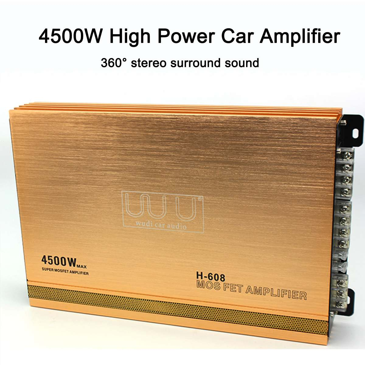4500W Car Audio Power Stereo Amplifier Amp 4 Channel Super Bass Subwoofer Music