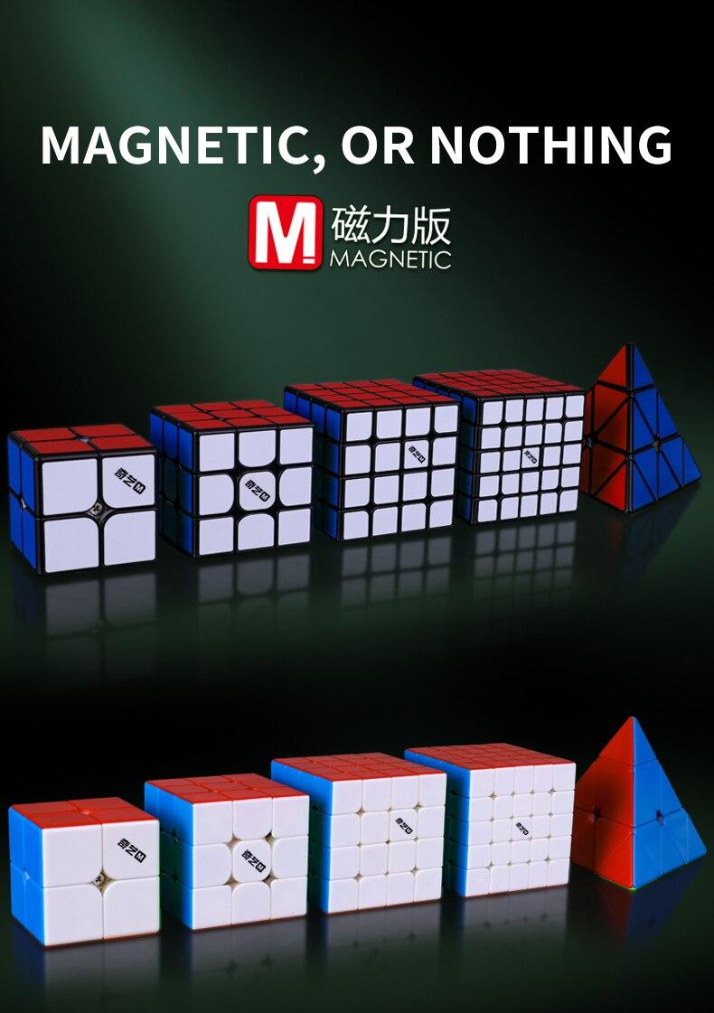 Cubo mágico magnético qiyi, ms series 3x3x3,