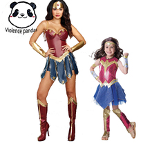 Parent-child Superhero Wonder Woman Cosplay Costume Justice League Costume Christmas Halloween Sexy Women Dress Up Dress Cosplay все цены