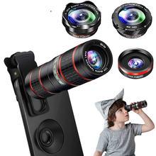 Набор объективов для камеры телефона 5 в 1 объектив мобильного