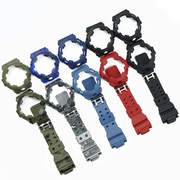 Camo Resin Strap Case Men's Watch Accessories for Casio G-SHOCK GA700 GA735 Sports Waterproof Rubber Strap Ladies watch band недорого