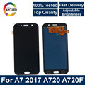 Super AMOLED LCD A7 Voor Samsung Galaxy A7 2017 A720 A720F mobiele telefoon Lcd Touch Screen Assembly + helderheid controle