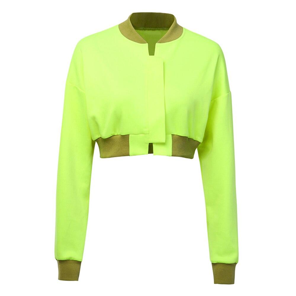 Fashion Autumn Jacket Coat Women Long Sleeve Short Crop Tops Zipper Jacket Kardigan Ladies Party Clubwear Outwear Jackets