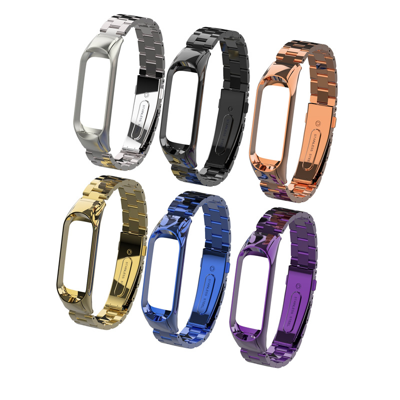 Bracelet Wristbands Metal-Strip Strap Xiaomi Stainless-Steel Original for Xiaomi/Mi-band/3/Replace