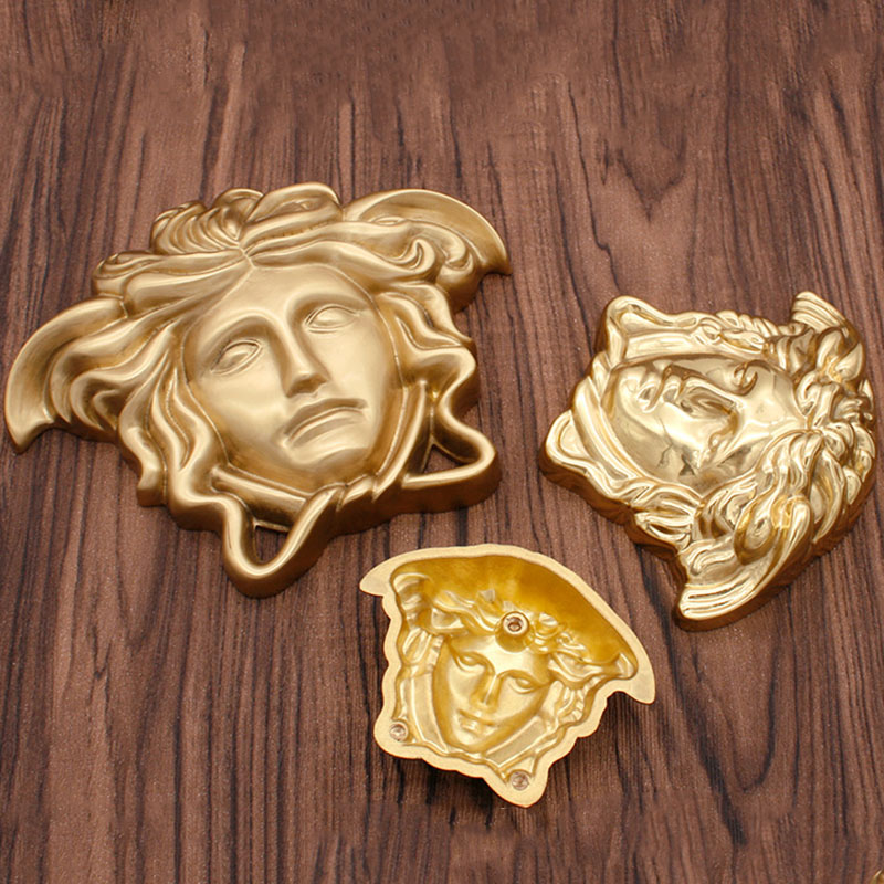 Brass Sofa Accessory Classic Human Head Nordic American Door Decoration European Cabinet Accessory
