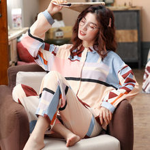 BZEL Mới Nữ Set Bộ Tay Dài Quần Dài Đồ Ngủ Dép Nữ Homewear Loungewear Hoạt Hình Váy Ngủ Pijama Bộ Pyjama