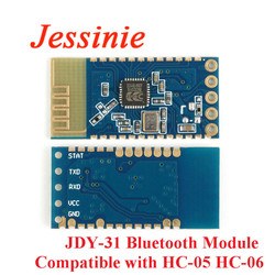 10pcs JDY-31 Bluetooth 3.0 HC-05 HC-06 Bluetooth Module Serial Port 2.4G SPP Transparent Transmission Compatible HC 05 06 JDY-30