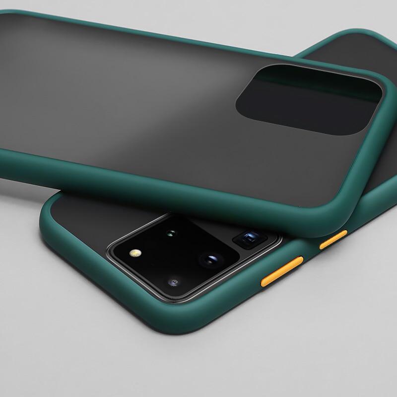 Matte Hard Phone Case For Samsung S20 S10e S8 S9 S10 Note 8 9 10 A70 A50 A30 A20 A10 A20E A10S A20S A51 A71 A7 A9 2018 M40 Cover