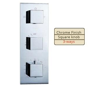 Image 2 - Şelale ve yağmur duş bataryası seti krom termostatik duş bataryası dokunun elduşlu başkanı
