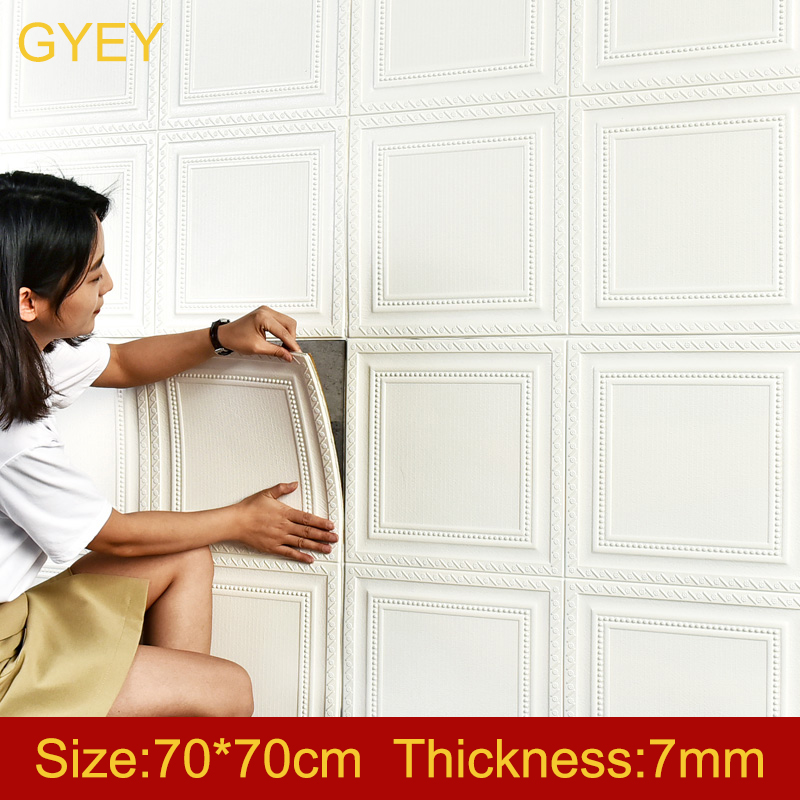 Self Adhesive Waterproof TV Background Brick Wallpapers 3D Wall Sticker Living Room Wallpaper Mural Bedroom Decorative 70*70
