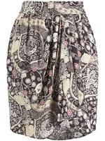 Women's Asymmetrical Printing Skirts High Waist Lady Short Skirts Spring Summer Female Clothes