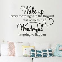 Artistic Fonts Letters Wall Sticker DIY Art Removable Morning Wake Up Mural Bedroom Wall Decals Wallstickers Home Room Decor