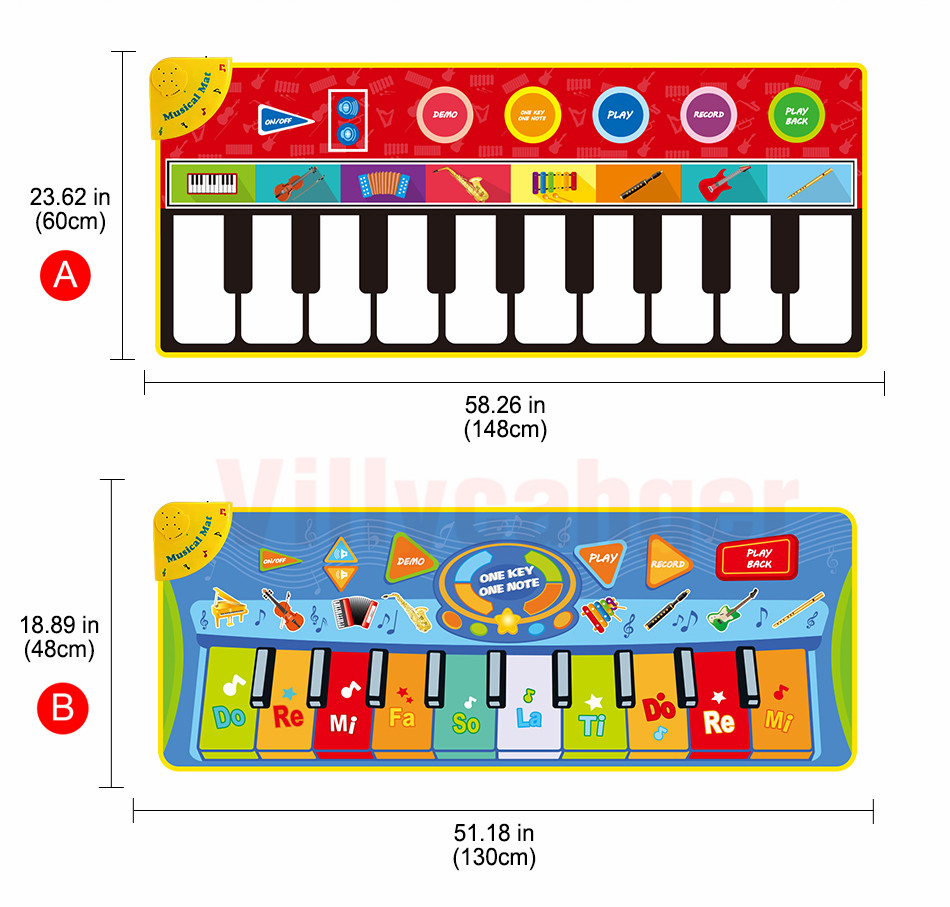 H8b56856a7fdd4d168160c4d63a646d99S Large Size Musical Mat Baby Play Piano Mat Keyboard Toy Music Instrument Game Carpet Music Toys Educational Toys for Kid Gifts