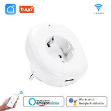 Wifi Smart Socket EU Power Plug  Wireless Mobile APP Remote Control USB Output Works with Alexa Google Home Smart life tuya 10A