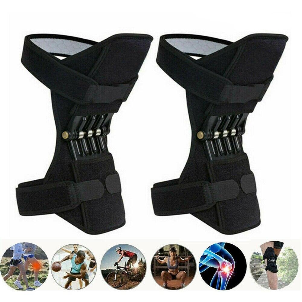 Joint apoio joelheiras joelheiras protetor de joelho suporte cinta poderosa rebote primavera força joelho reforço perna protector power lift conjunta