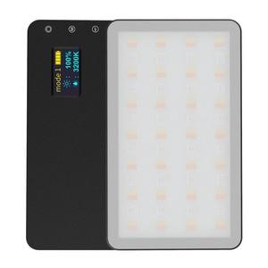 Image 4 - RB08/RB08P Ultra ince kısılabilir LED Video ışığı LED ekran pil ile kamera DSLR fotoğraf aydınlatma dolgu işığı
