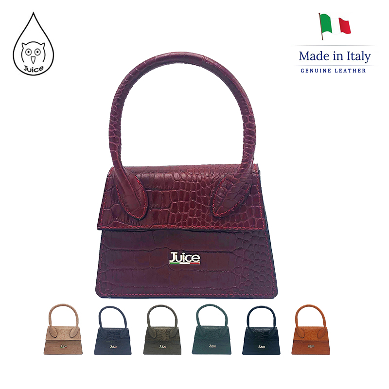 JUICE , Made In Italy, Genuine Leather. Ladies Handbag, Cross Body Bag,112213