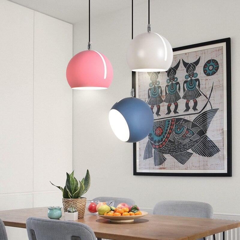 Işıklar ve Aydınlatma'ten Kolye ışıkları'de Iskandinav yemek odası avize modern basit ev yemek masası LED kişilik yaratıcı yatak odası yemek odası lambası title=