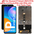 Для Huawei P Smart 2021 PPA-LX2 ЖК-экран протестированный ЖК-дисплей + сенсорный экран Замена с рамкой для Huawei Y7A PPA-LX3