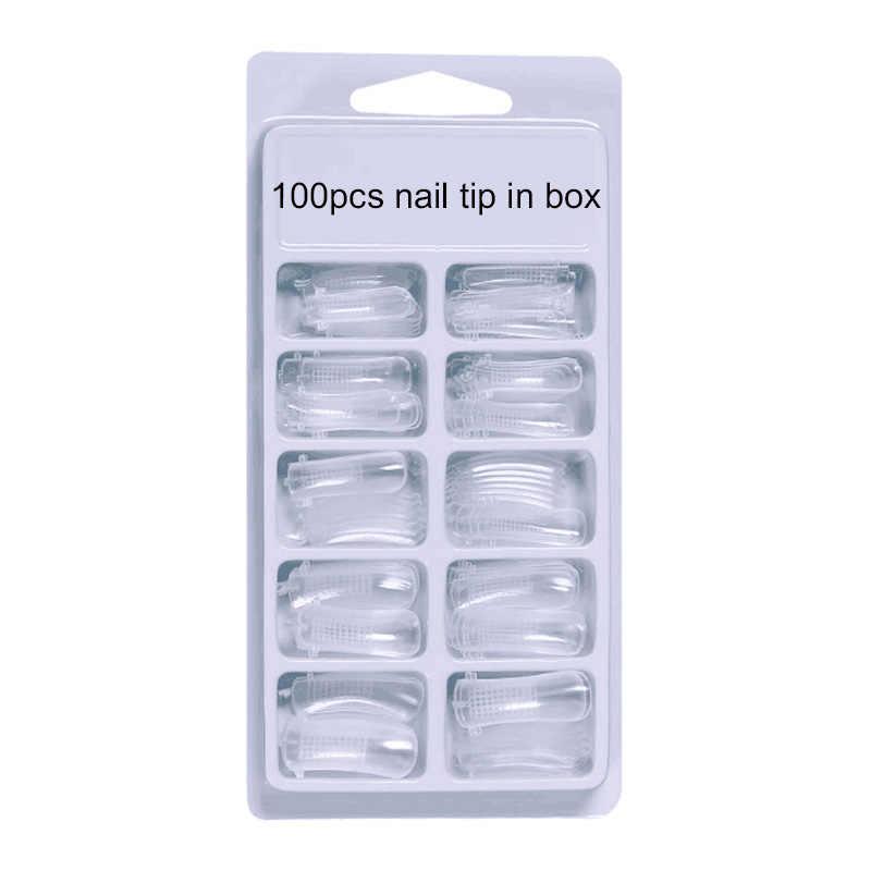 4 Stks/set Poly Gel Set Snel Droog Franse Nail Art Design Nail Extension Top Coat Base Natuurlijke Hard Jelly Acryl uv Gel Borstel Set