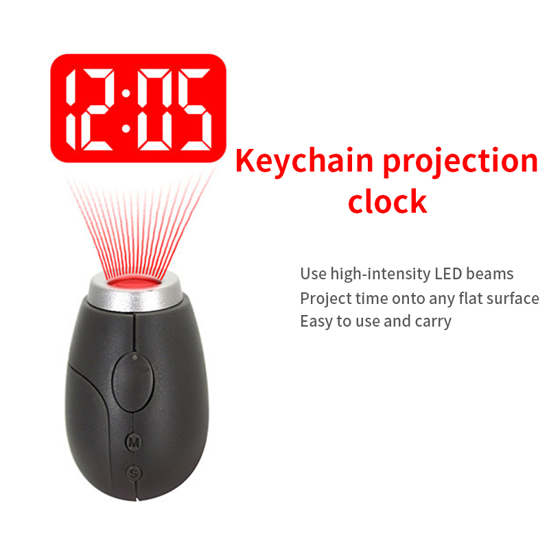 Projection Clock Watch Hanging-Rope Led-Light Time Digital Small Mini Portable High-Intensity title=