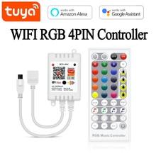 Smart-Controller Tuya Alexa Google Home WIFI Wireless with Light 12V RGB Ce Remote-Led-Strip