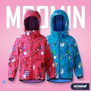 Image 1 - Moomin 2019 New arrival cartoon balloon Spring jacket warm autumn jacket 10 20 degree zipper long sleeve hooded boys jacket