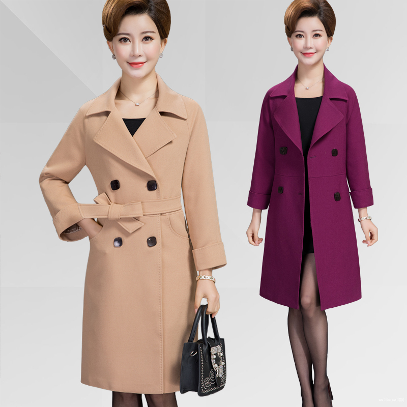 Women's Windbreaker Plus Size 4xl 5xl Long Trench Coat Female Overcoat Autumn Womens Clothing Coats Abrigo Mujer KJ223