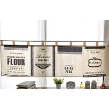Kitchen  English Alphabet Printed Curtains Half-curtain Nordic Style Simple Modern And Rod Not Included Nw