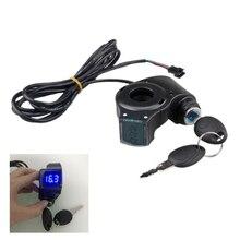 Panel de pantalla LCD de vehículo eléctrico, acelerador de pulgar, llave de voltaje, interruptor de bloqueo con interruptor de encendido para bicicleta eléctrica/Scooter/Ebike
