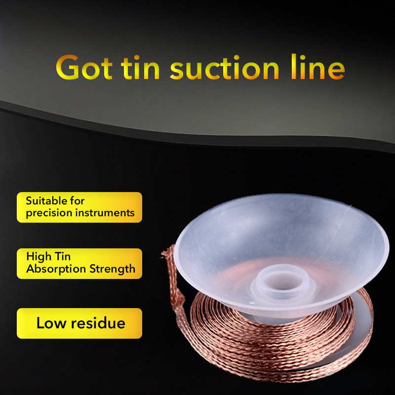 1 × Wholesale 3.5mm 1.5M Desoldering Braid Solder Remover Wick Wire Repair Tool