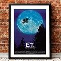 E.T. С рисунком внеземных обитателей НЛО фильм, рисунок на холсте Плакаты и принты настенные картины для Гостиная домашний декор Куадрос