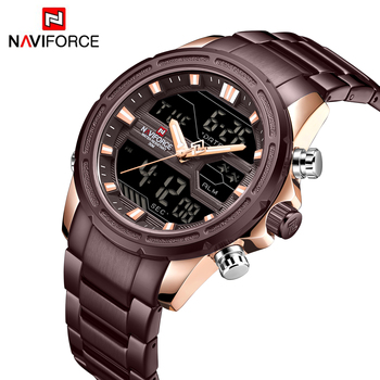 NAVIFORCE Men Quartz Analog Watch Luxury Fashion Sports Waterproof Wristwatch Steel Male Watches Clock Relogio Masculino NF9138 1