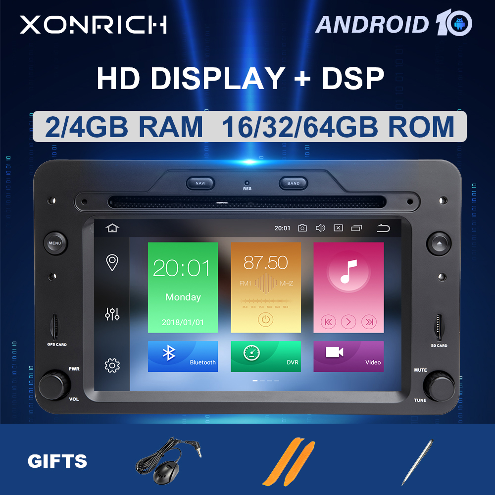 DSP 4GB 64G 2 Din Android 10 Car DVD Player Autoradio For Alfa Romeo 159 Brera Spider Sportwagon Multimedia GPS Navigation Audio