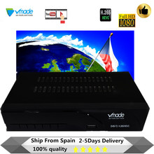 Vmadeใหม่ล่าสุดDVB T2ด้านบนกล่องReceiver H.265/HEVC DVB T2ขายร้อนยุโรปDVB T H.265 HevcสนับสนุนUSB WIFI RJ45