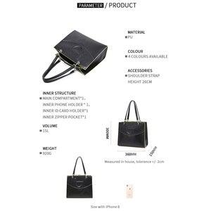 Image 5 - Bayan Casual Tote çanta çanta deri Pu sert büyük kapasiteli Saffiano çerçeve kabartma yüksek kalite 2020 yeni tasarım tavsiye