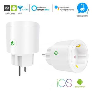 Smart Wifi Plug Mini Standard 10A 16A EU With Power Monitor Socket Voice Control Outlet Works With Google Home,Alexa,IFTTT