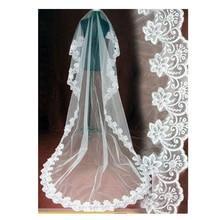 Wedding-Veil Renda Lace-Edge Bride Longo White/ivory with Veu-De-Noiva 5-Metros Velo