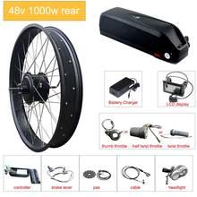 Электрический велосипед комплект 48 в 1000 Вт Мотор колеса жира е велосипед комплект литиевая аккумуляторная батарея Samsung электрическое преобразование велосипедов комплект с концентратором двигателя