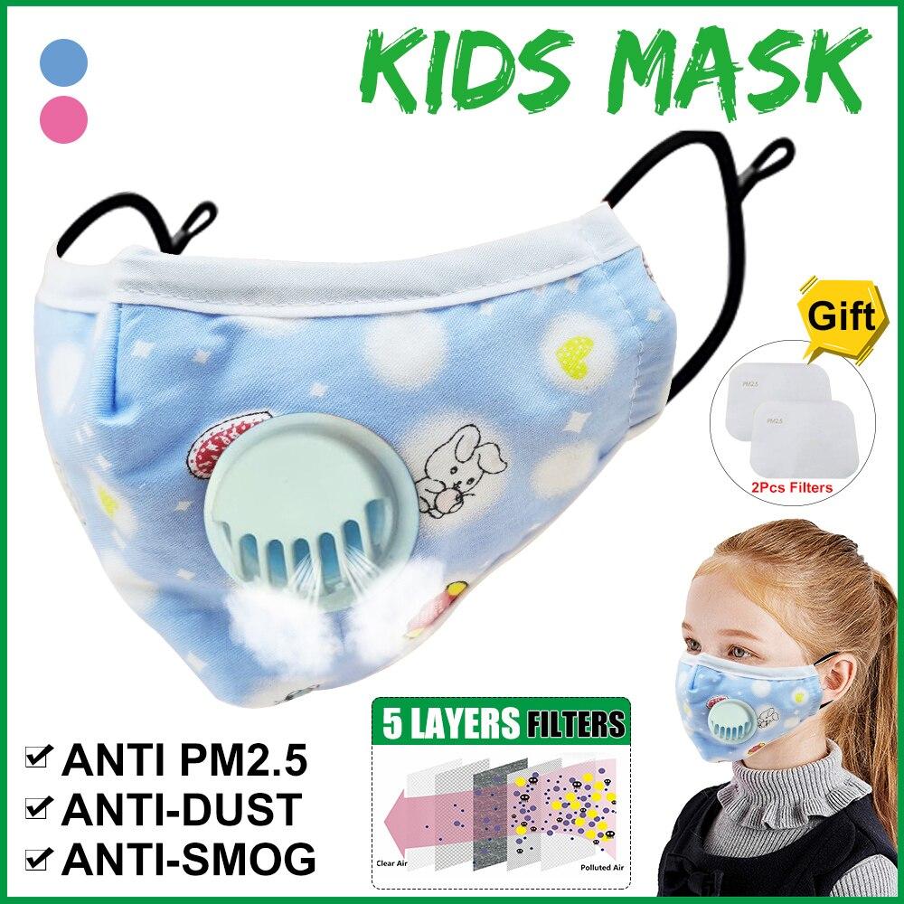Children PM2.5 Filter Mask KN95 5 Layers Replacement Filter Dustproof Flu Bacteria Proof Cotton Face Masks Anti Fog Mask